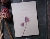 Grass Paper Notebook A5 Hardcover with Open Book Back Artichoke