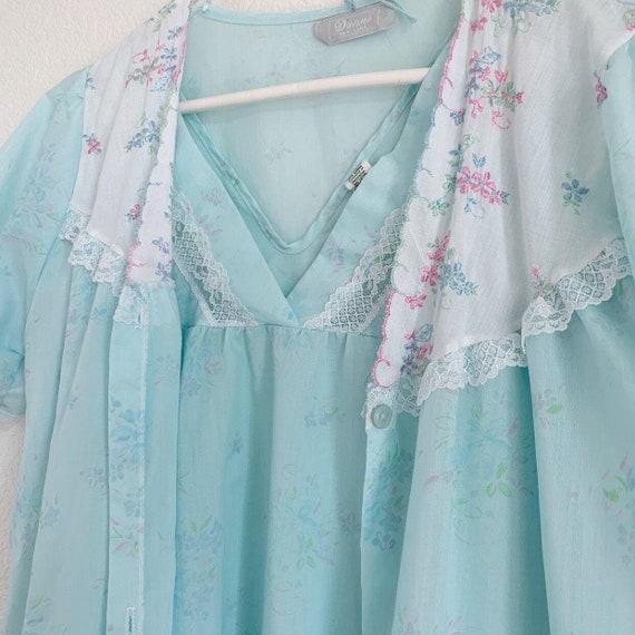 Vintage Danni New York Nightgown Set, Peignoir Se… - image 7