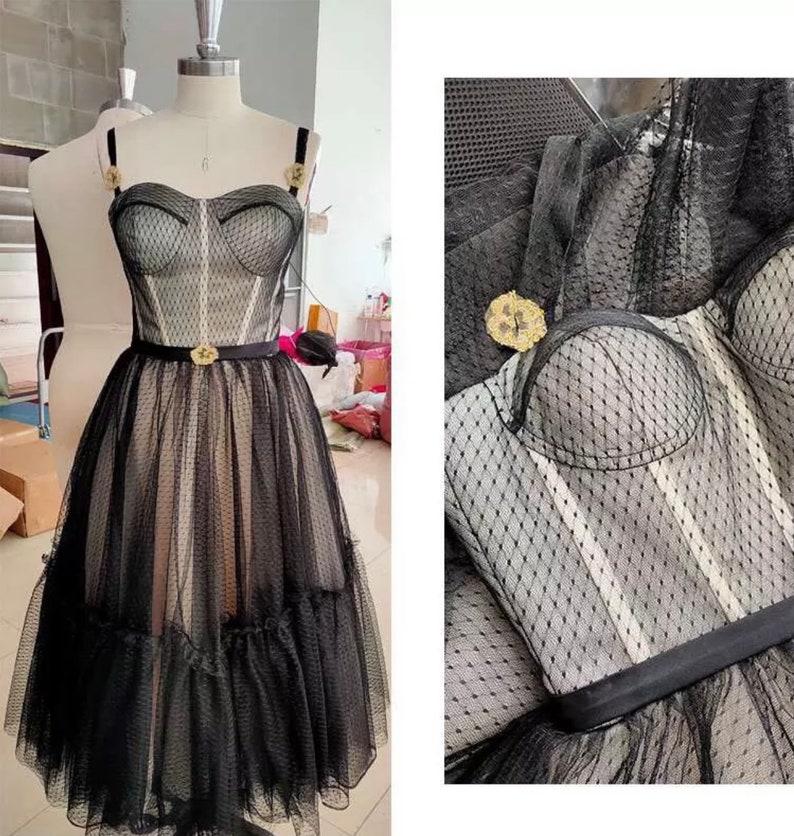 Black Vintage Evening Dress