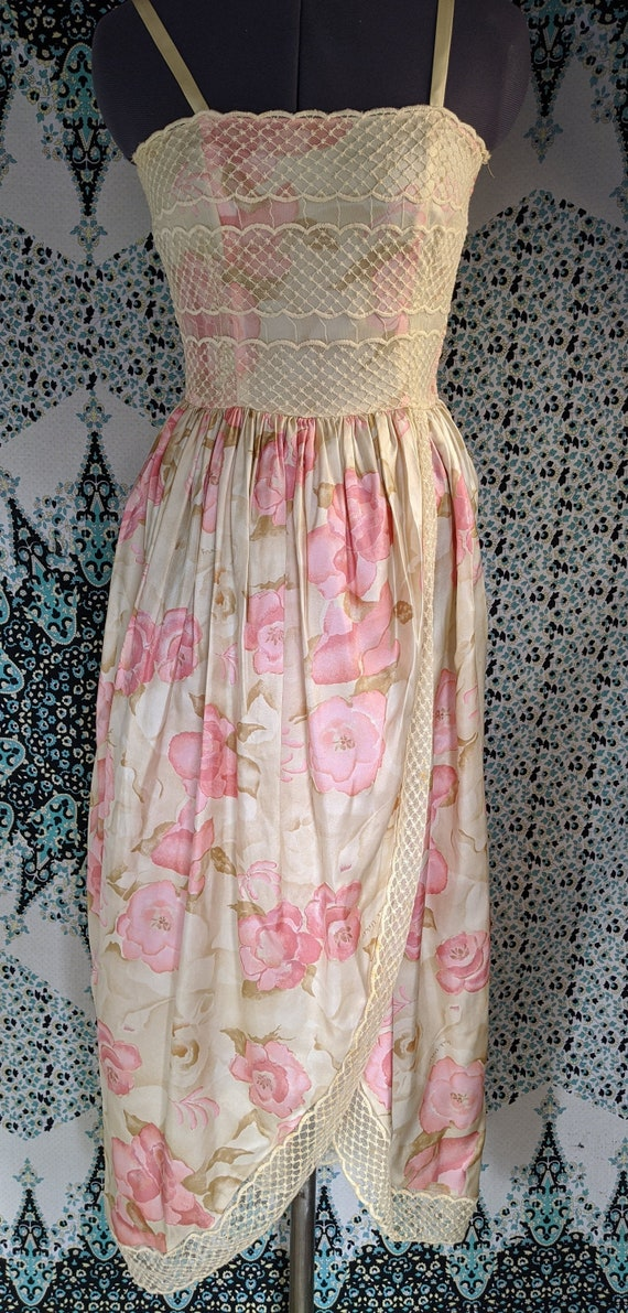 Vintage Frank Usher Dress 100% Silk Size 8
