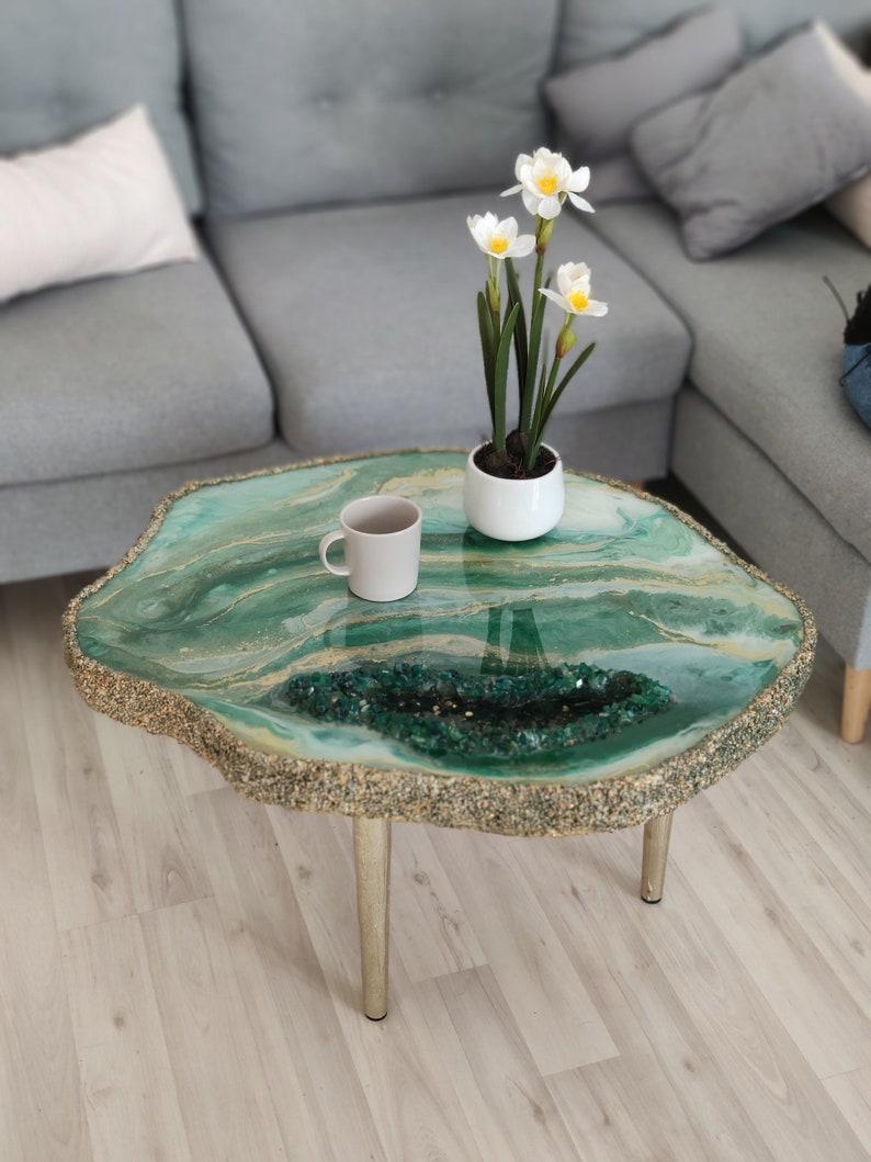 Epoxy Resin Coffee Table with Unique Furniture Design