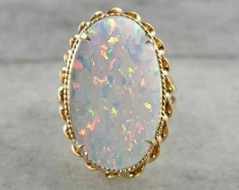 opal ring /opal rings for women /opal ring silver/Gold plated ring /925 streling silver  /October Birthstone ring / opal ring vintage