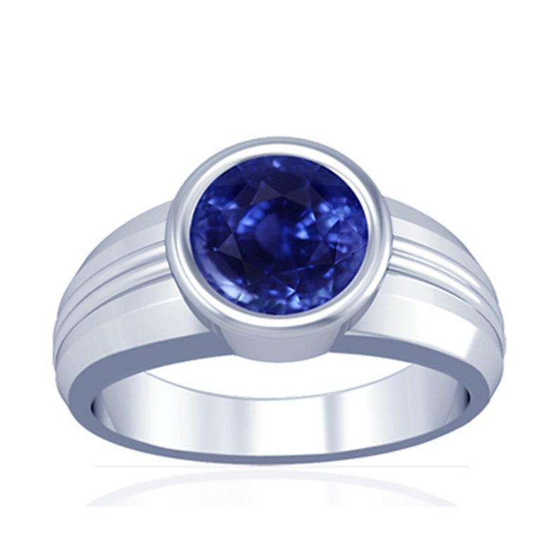 blue sapphire ring,4.25 carat Blue Sapphire 925 sterling Silver Vintage Celtic Sterling Silver Blue Sapphire Ring