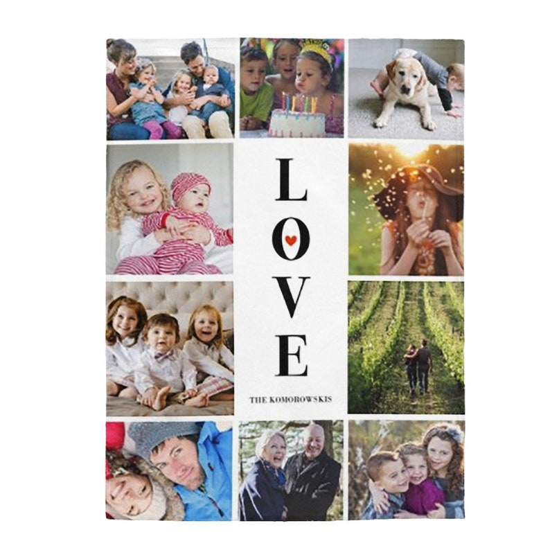 Personalized Photo collage blanket Family collage  soft image 0