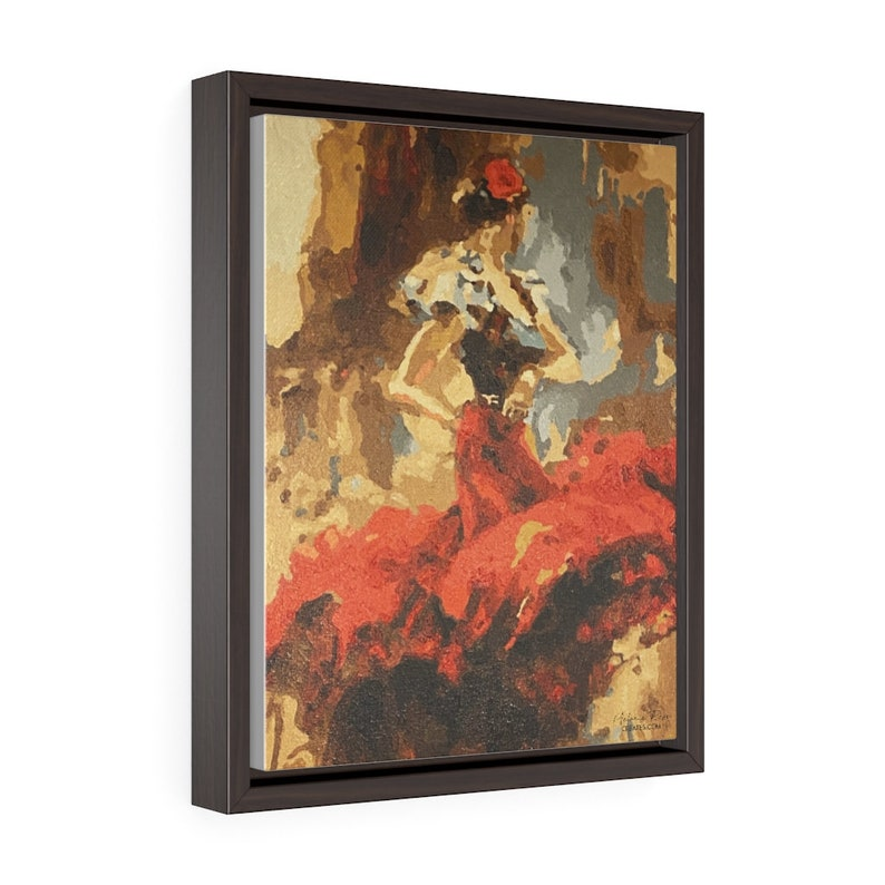Salsa Dancer Vertical Framed Premium  Gallery Wrap Canvas  image 0