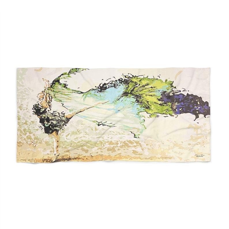Dancing in the Wind Beach Towel  art towel  Soft towel  image 0