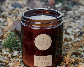 Soy Candle Sauvage Scent Upcycled Vegan Beer Bottle Candle Lockdown Gifts Eco Friendly Candle