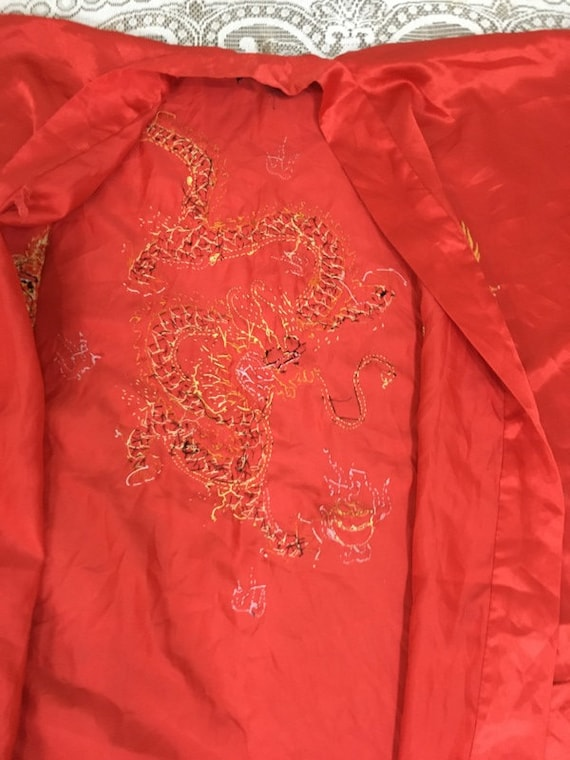 19th Century Antique Chinese Robe Hand Embroidery… - image 5