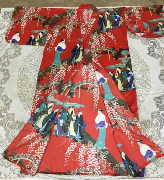Reserve For Carmen Antique Chinese Robe Handmade … - image 8