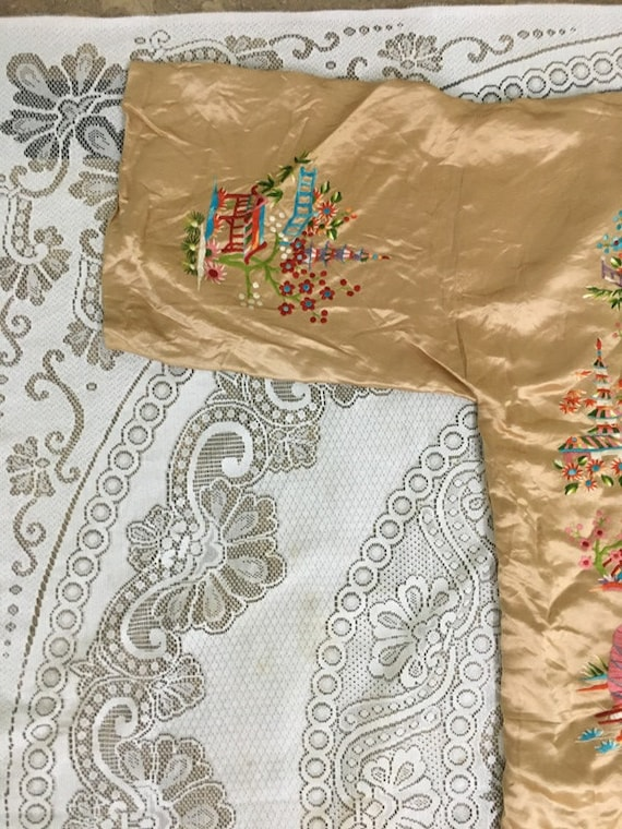 19th Century Antique Chinese Robe Hand Embroidery… - image 6