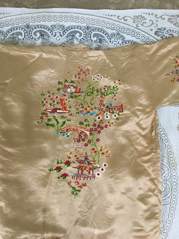 19th Century Antique Chinese Robe Hand Embroidery… - image 10