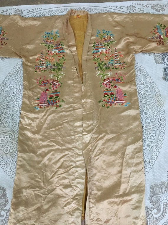 19th Century Antique Chinese Robe Hand Embroidery… - image 2