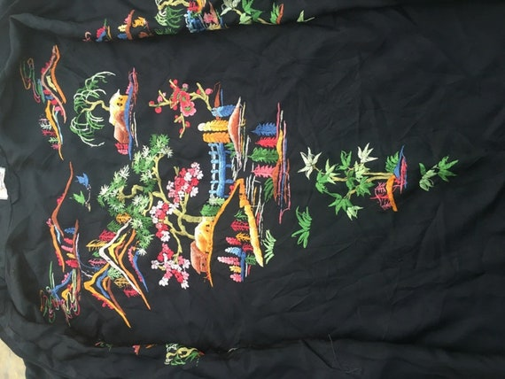 19th Century Antique Chinese Robe Hand Embroidery… - image 7