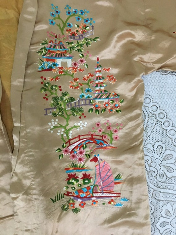 19th Century Antique Chinese Robe Hand Embroidery… - image 4