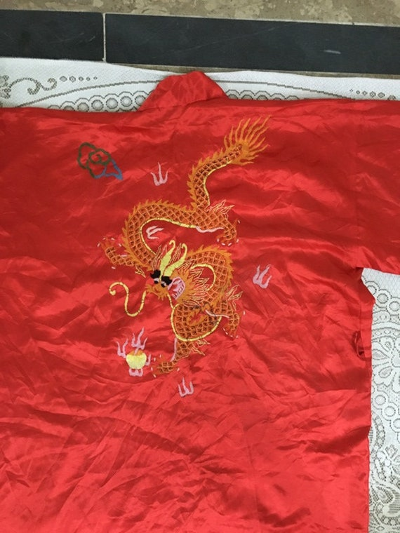 19th Century Antique Chinese Robe Hand Embroidery… - image 8