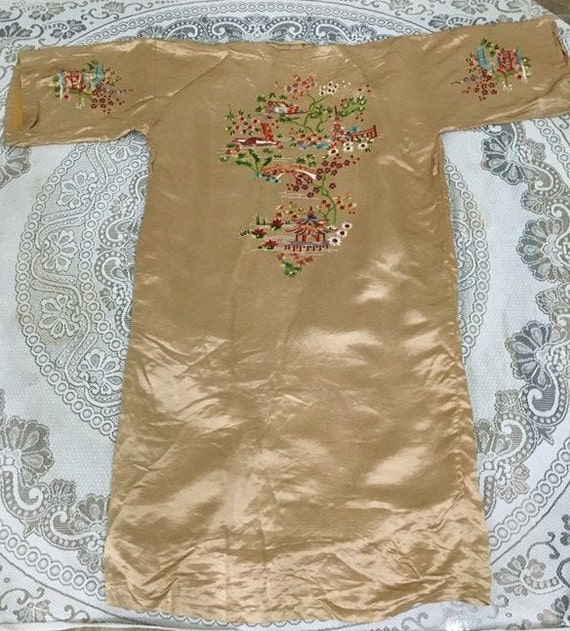 19th Century Antique Chinese Robe Hand Embroidery… - image 9