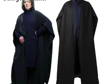 For The Death Hallows Cosplay Professor Severus Snape Robe Outfit Costume Adult Men Women Girls Personalized Size