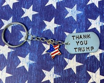 Trump Keychain Usa Flag Halsriemen für Schlüssel ID Handy Lanyards 2020 Q1F T5K2