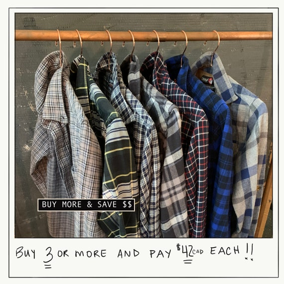 Vintage Thrifted Flannel Shirts Bundle/ PICK TWO S