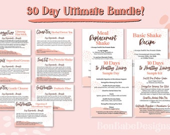 Gentle Cleanse CleanTox Download Sample Cards Arbonne Sample Kit Card Print Arbonne 30 Day Cleanse 4 x 6 Digital file