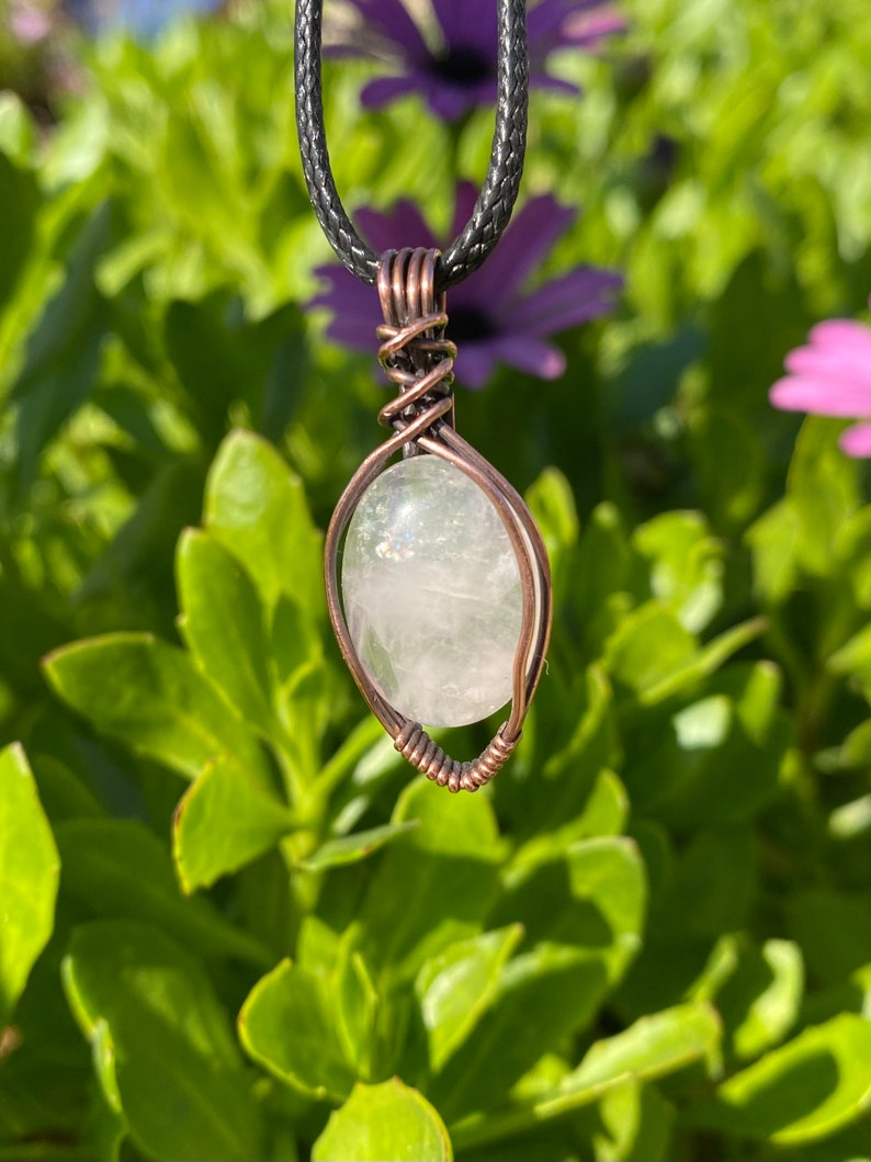Mothers Day Gift Idea Rose Quartz Wire Wrapped Healing Pendant Crystal Healing Jewelry Heart Chakra Crystal