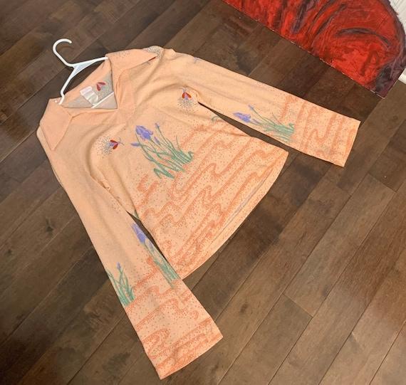 1970s Mod Patterned Shirt