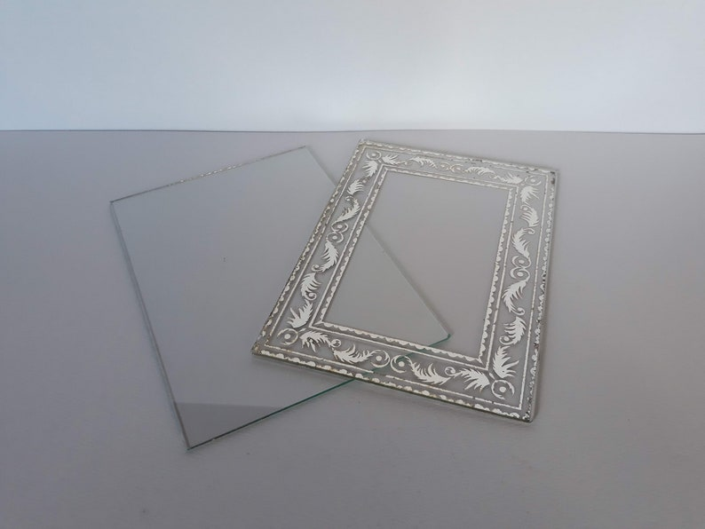 ART DECO marble photo frame 1930/'s FRANCE with original glasses