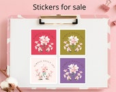 Orchids Stickers | For Fun Projects | To Personalize Gifts