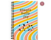Live Your Beautiful Life | Simple Daily Joy | Dotted  Grid |  Journal Notebook