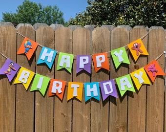 Pocoyo birthday party banner