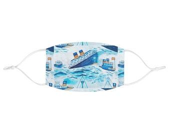 Boats OrangeBlue Tie Back Scrub Hat