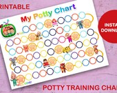 Cocomelon Printable Potty Training Chart, High Res JPG Files, Instant Download, Ready to Print