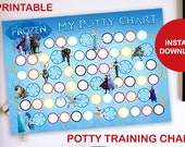 Disney Frozen Printable Potty Training Chart, High Res JPG Files, Instant Download, Ready to Print