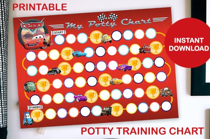 Cars Printable Potty Training Chart image 0