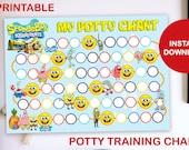 SpongeBob Squarepants Printable Potty Training Chart