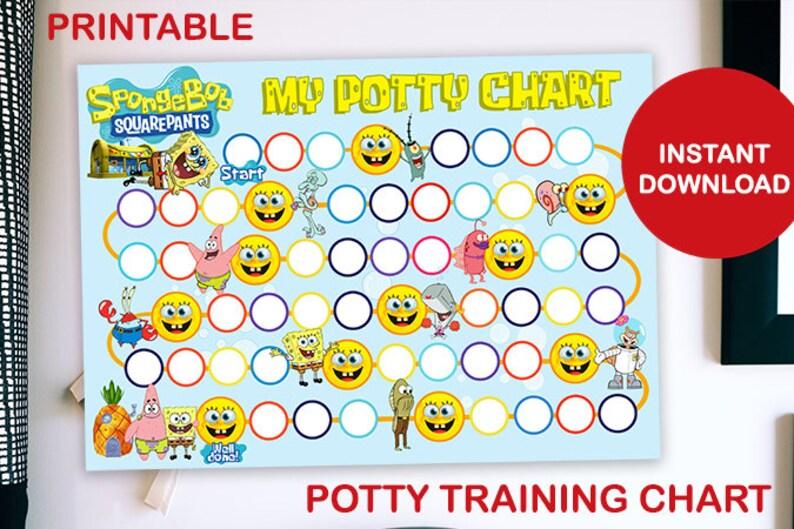 SpongeBob Squarepants Printable Potty Training Chart image 0