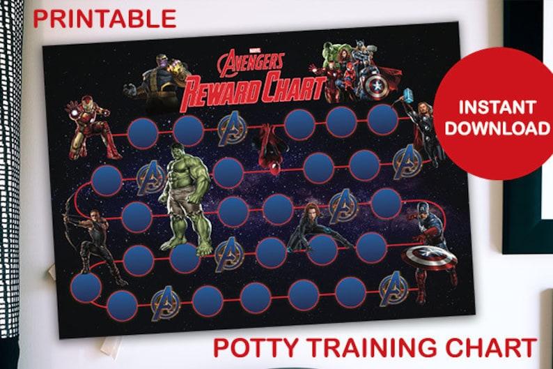 Avengers Printable Potty Training Chart image 0