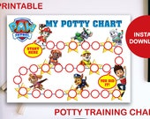Paw Patrol Printable Potty Training Chart