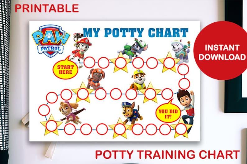 Paw Patrol Printable Potty Training Chart image 0