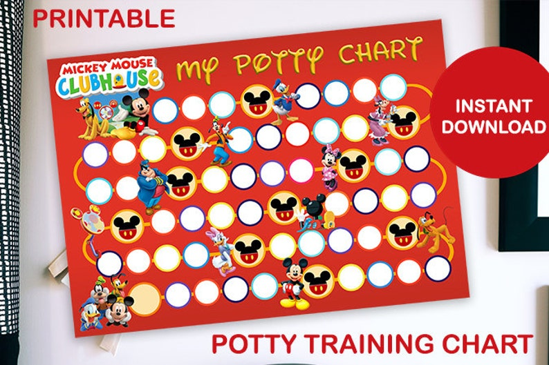 Mickey Mouse Clubhouse Printable Potty Training Chart image 0