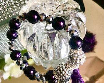 NEW 2pc Jesse James GoldSky Blue Crystal /& Glass Fish Globe Bowl vial Tassel Round ball beads 16mm charm bead Lot Earring Jewelry making