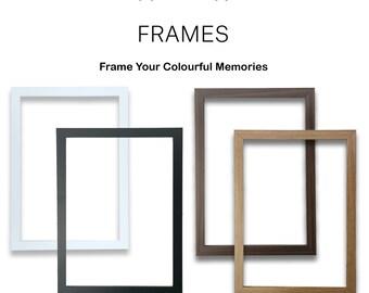 Modern Thin Photo Frame Black White Oak Walnut Picture Frame Poster Frame A2 A3 A4 A5 A6 All Sizes