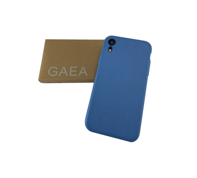 Earth friendly Natural bamboo fibres Ocean Blue iPhone case XS Max Biodegradable XR iPhone XXS 100/% Compostable