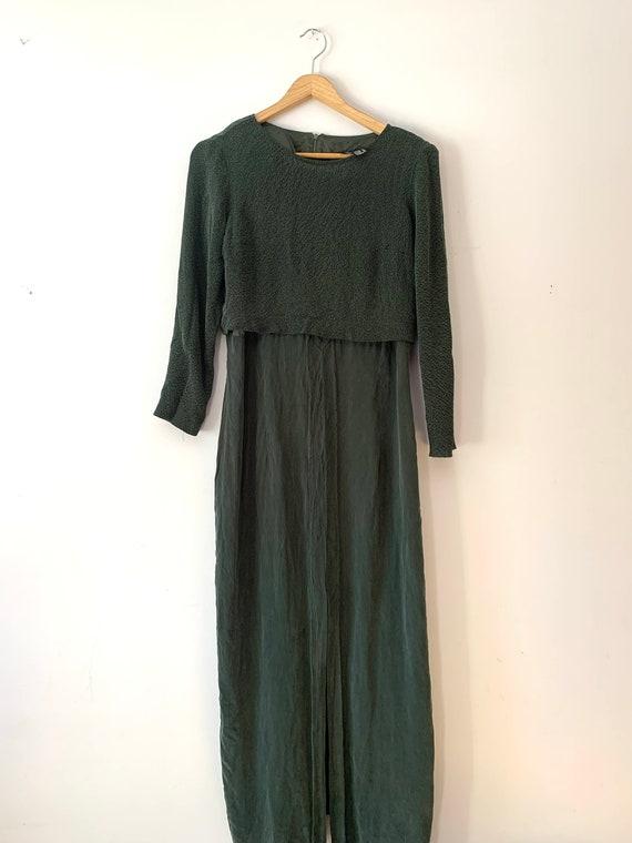 Vintage Forest Green Sophisticate Dress