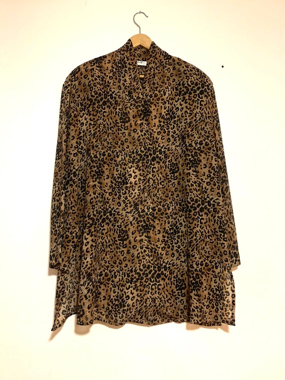 Vintage Cheetah Blouse