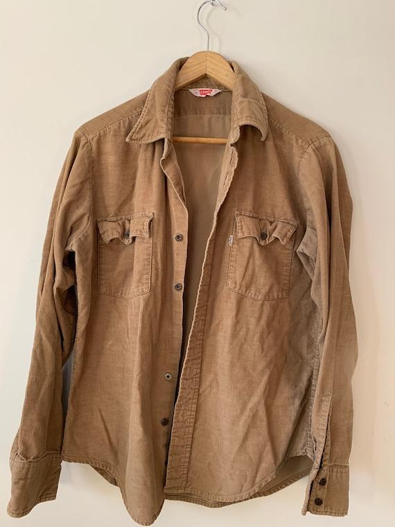 Vintage Levi's tan corduroy button up