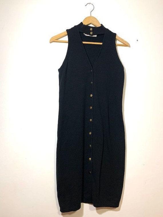 Vintage black sweater vest dress