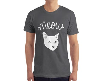 Meow Cat Face T-Shirt