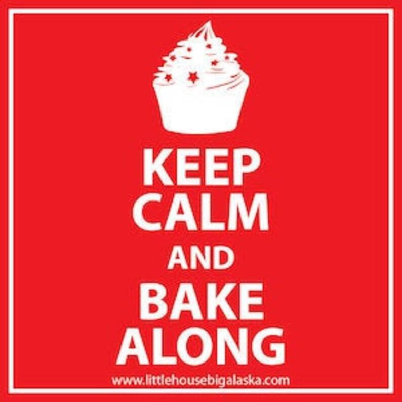 Keep Calm and Bake-Along Great British Baking Show Sticker image 0
