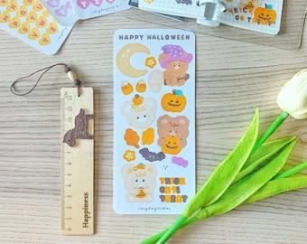 Happy Halloween Sticker Sheet - Cute Deco Planner Kisscut Stickers for Journaling, Bullet Journaling, Planner, Kpop Journaling, Scrapbooking